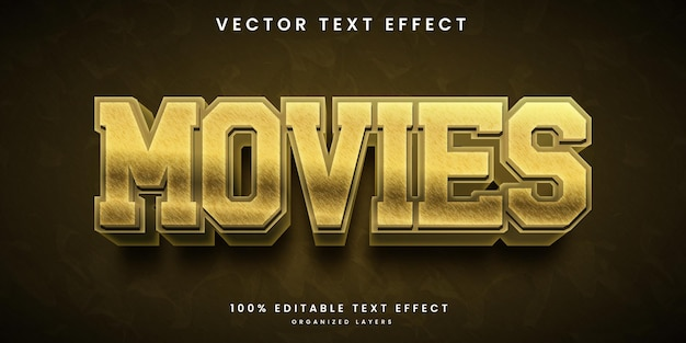 Movies 3d text effect
