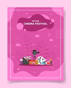 Movies cinema festival illustration for poster template