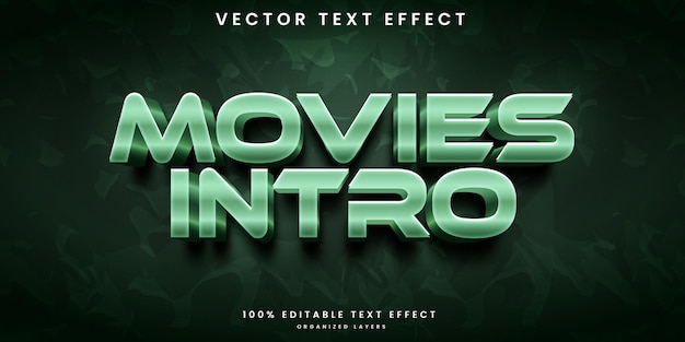 Movies editable text effect