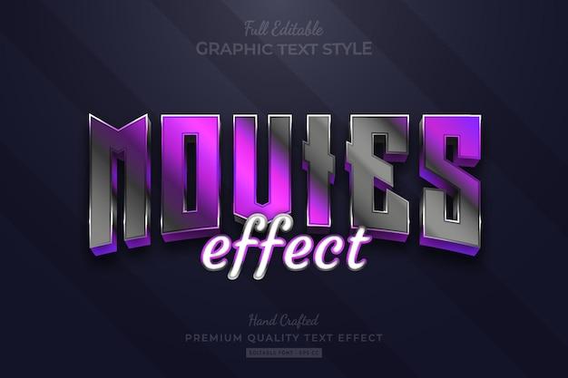 Movies purple black elegant editable text effect font style