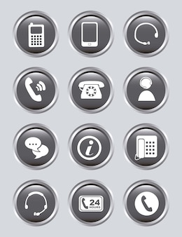 Movile icons over gray background vector illustration