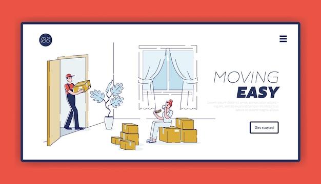 Легкое перемещение с помощью компании по переезду на дом