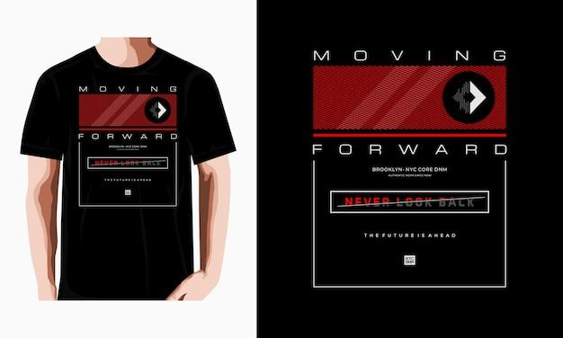 印刷tシャツプレミアムベクトルプレミアムベクトルのデザインタイポグラフィを前進させる