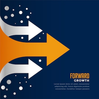 Moving forward and leading arrow concept template