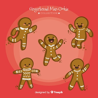 Moving gingerbread man collection
