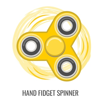 Moving hand fidget spinner color yellow   toy