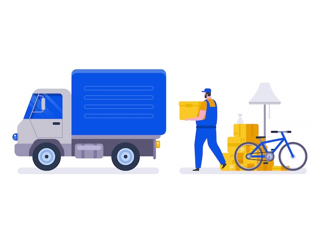 Moving house service.