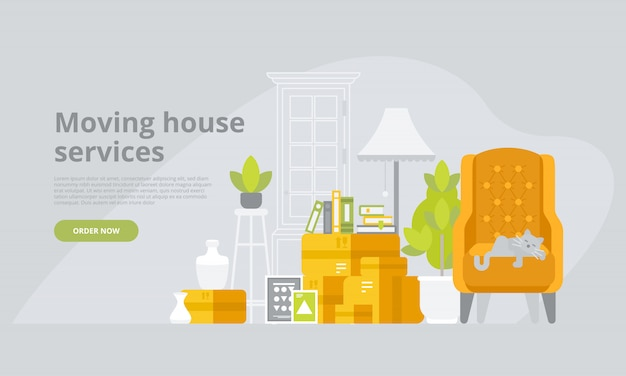 Moving house services landing page template