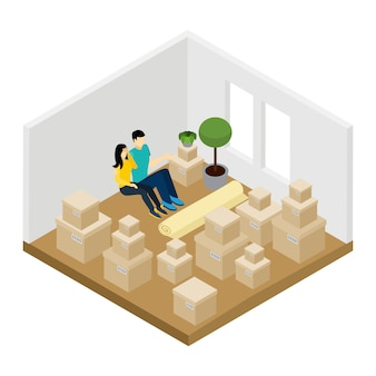 Moving in illustration