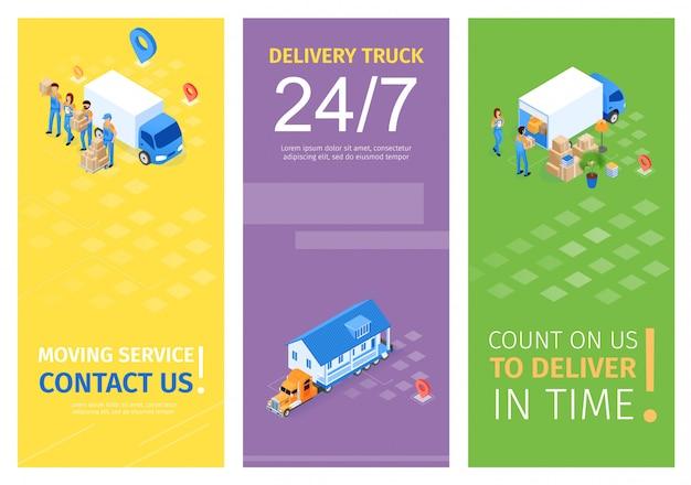 Установите moving service, свяжитесь с нами векторная иллюстрация