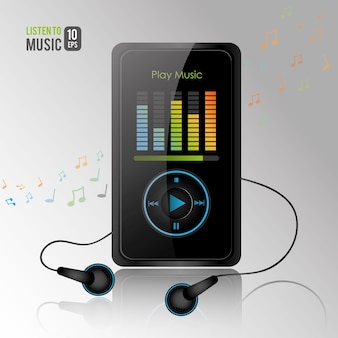 Mp3 player vector design illustration