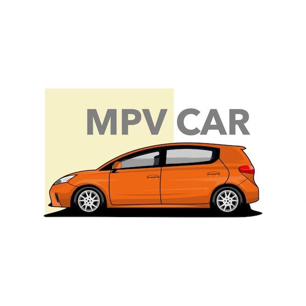 Mpv car vector