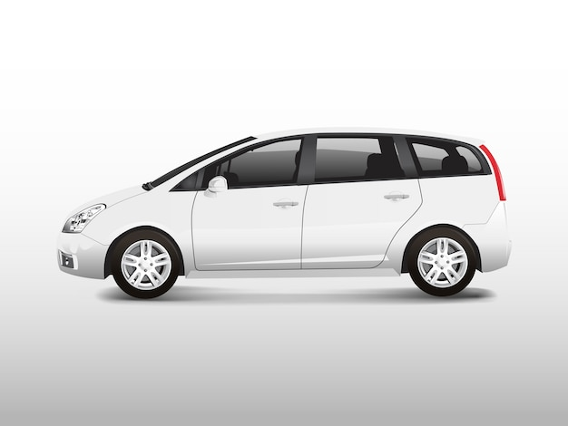 Белый автомобиль mpv минивэн автомобиль