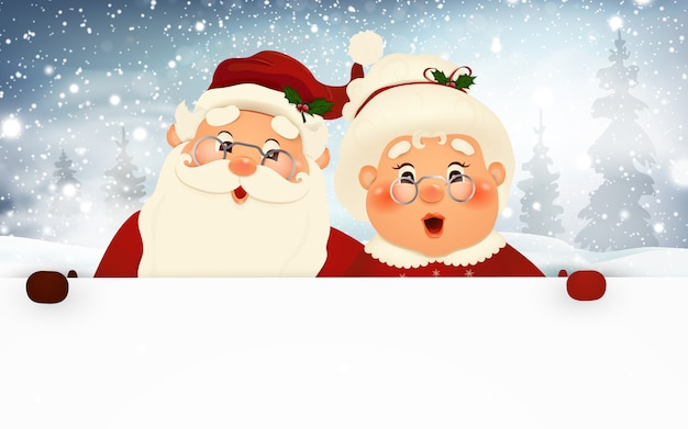 Mr and mrs claus, merry christmas