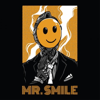 Mr smile illustration