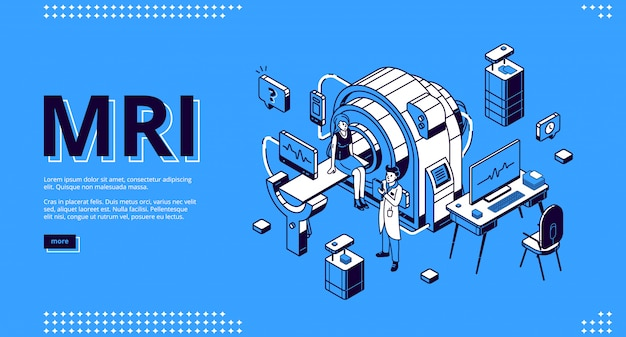 Mri scanner with patient and doctor web banner