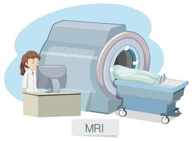 Mri scanning on white background