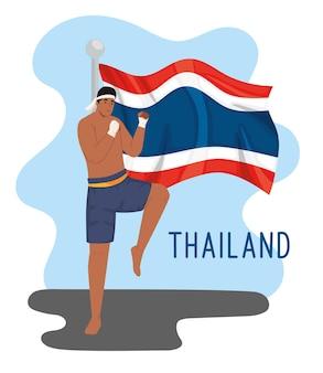 Боец тайского бокса