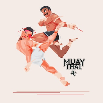 Muay thai. thai boxing. combat sport and martial arts concept