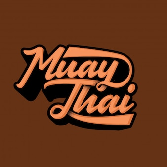 Muay Thai typography