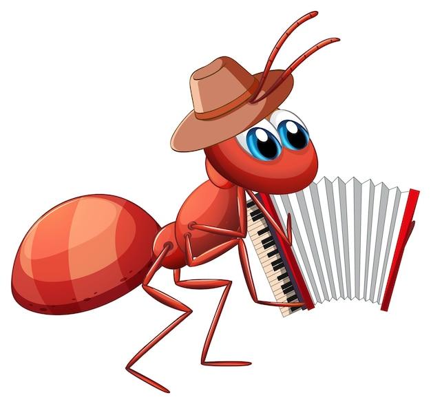 Муцианский муравей играет на аккордеоне
