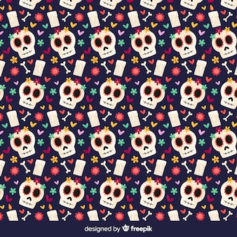 Красочный ручной рисунок коллекции muertos