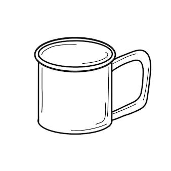 Mug for hiking, metal mug for making tea