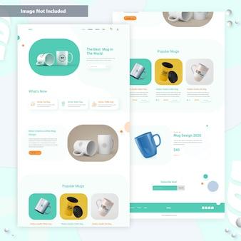 Mug product landing page .