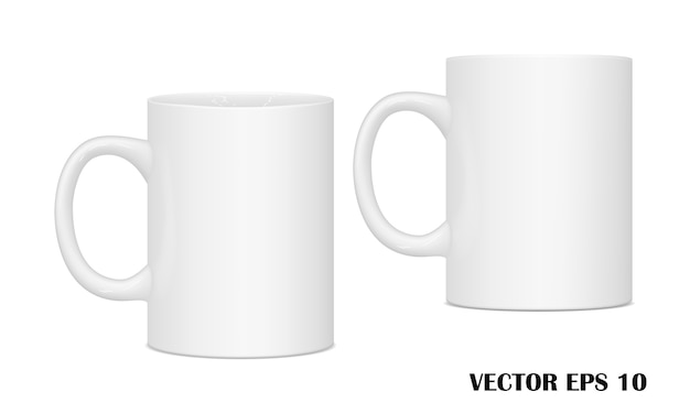 Mugs for drinks from different points of view.