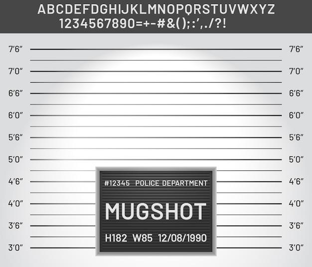 Шаблон mugshot
