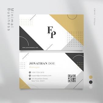 Muji geometric shapes business card