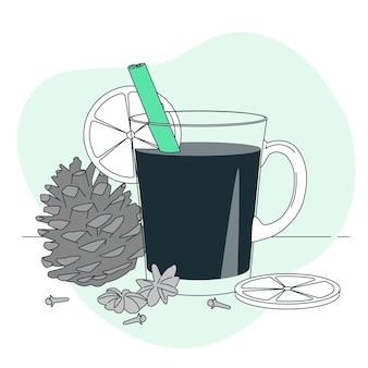 Illustrazione del concetto di vin brulè