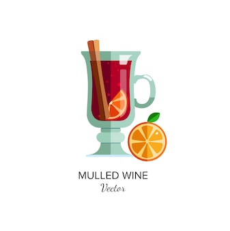 Mulled 와인 그림