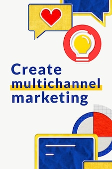 Modello aziendale di marketing multicanale per marchi di e-commerce