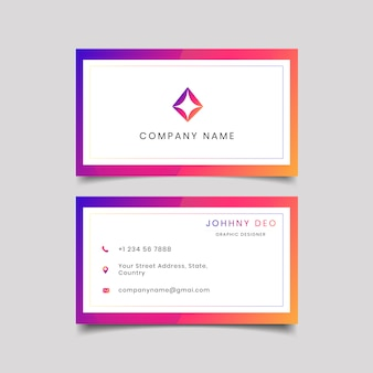 Multi color attractive modern business card template