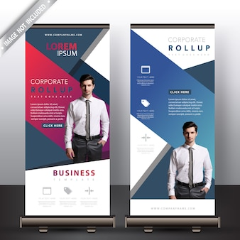 Multi color commercial roll up banners