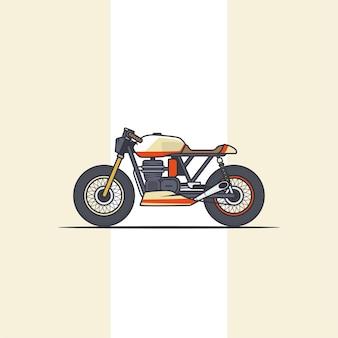マルチカラーオートバイのイラスト