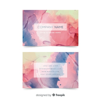 Multi colored business card template