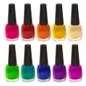 Multi-colored nail polish illustration