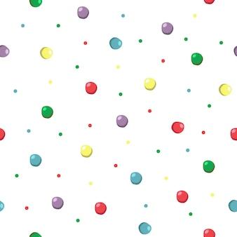 Разноцветный узор в горошек. красочный узор точек. бесшовные векторные фон.