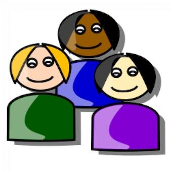 Multi ethnic icon