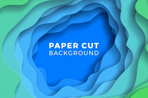 Multi-layer colorful realistic papercut background. vector illustration
