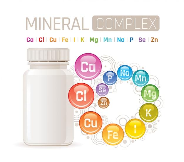 Мульти минеральная комплексная добавка. Premium векторы
