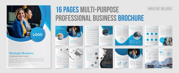 Multi pages company profile brochure