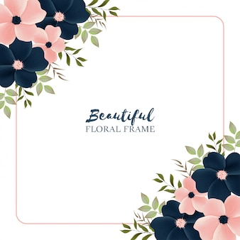 Multi purpose background with beautiful floral frame