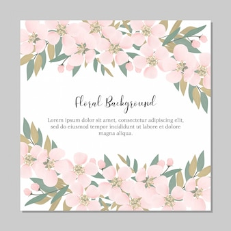 Multi purpose floral cherry blossom frame background template