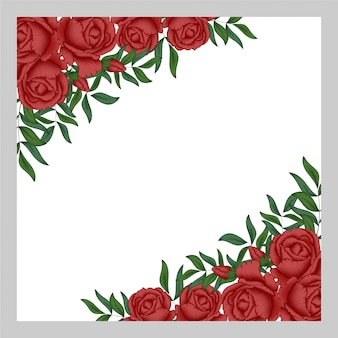 Multi purpose red rose floral background