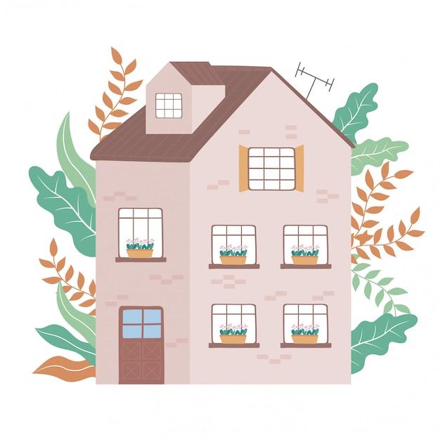 多階建て住宅住宅庭正面図
