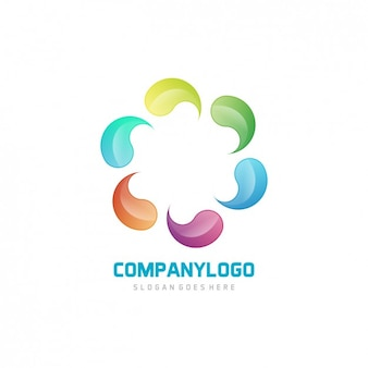 Multicolor abstract logo design