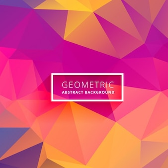 Multicolor background in low poly style Free Vector